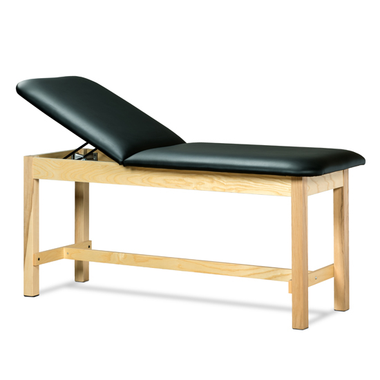 1010 2018 - Treatment Table, Wood, Adjustable Backrest, H-Brace
