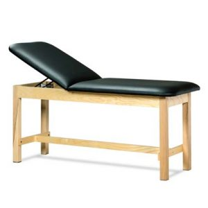 1010 24 300x300 - Treatment Table, Wood, Adjustable Backrest, H-Brace