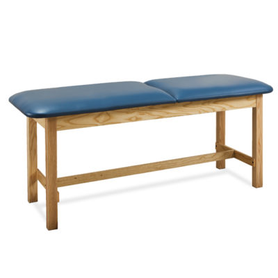1010 - Treatment Table, Wood, Adjustable Backrest, H-Brace