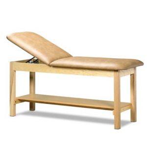 1020 24 300x300 - Treatment Table, Wood, Adjustable Backrest, Shelf