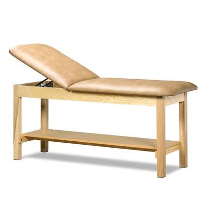1020 24 - Treatment Table, Wood, Adjustable Backrest, Shelf