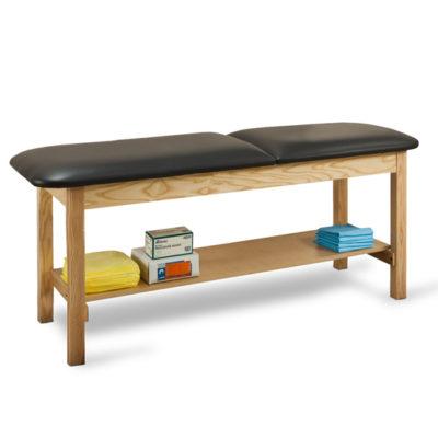 1020 - Treatment Table, Wood, Adjustable Backrest, Shelf
