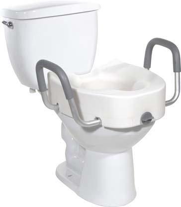 12013 - Elongated Toilet Seat, Premium Plastic, Raised