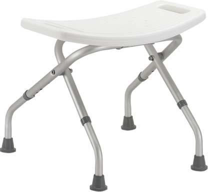 12486 - Shower Chair, Folding, Aluminum