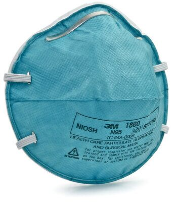 1860 - Mask, N95 Fluid Resistant Particulate Respirator, Cone Molded (Box of 20)