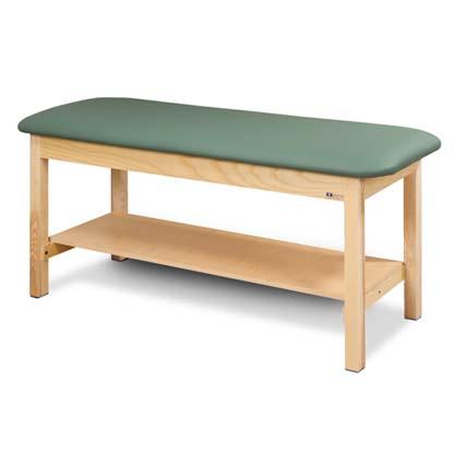 200 27 - Treatment Table, Wood, Flat Top, Shelf