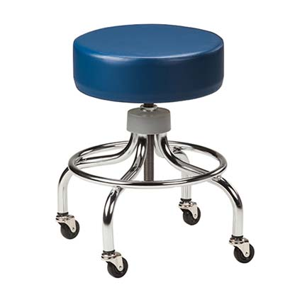2102 - Stool, Screw Adjust, Round Chrome Base