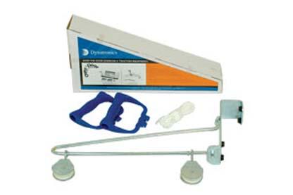 22100 - Overdoor Shoulder Pulley (Metal Triangle Bracket & Dual Pulleys)
