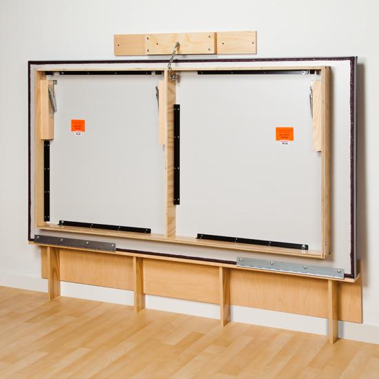 243 folded - Clinton Space Saving, Folding Mat Platform Table