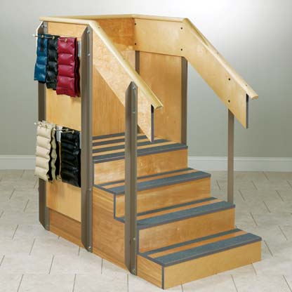 4 8020 - Staircase, Straight, 3 Sides of Storage, 4 Steps