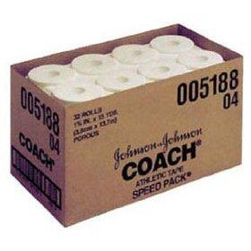 """5188 - J&J Coach Porous Athletic Tape, 1½"""" x 15 yds, 32/cs"""