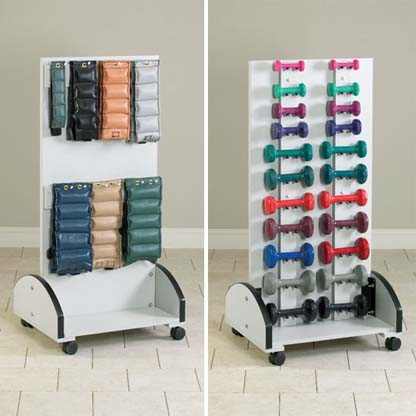 7027 - Mobile Cuff Weight & Dumbbell Rack