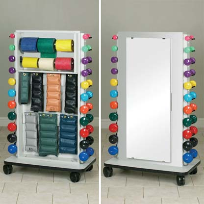 7031 - Mobile Weight Rack w/ Mirror
