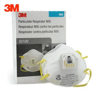 8210V  300x300 - Mask, N95 Particulate Respirator, Molded, Cool Flow™ Valve (Box of 10)