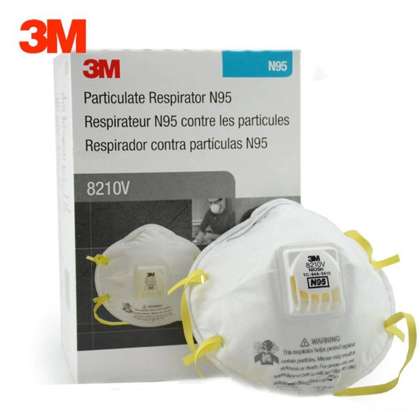 8210V  600x600 - Mask, N95 Particulate Respirator, Molded, Cool Flow™ Valve (Box of 10)