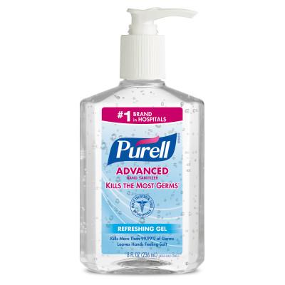 9652 - Purell Instant Hand Sanitizer, 8 oz Pump Bottle