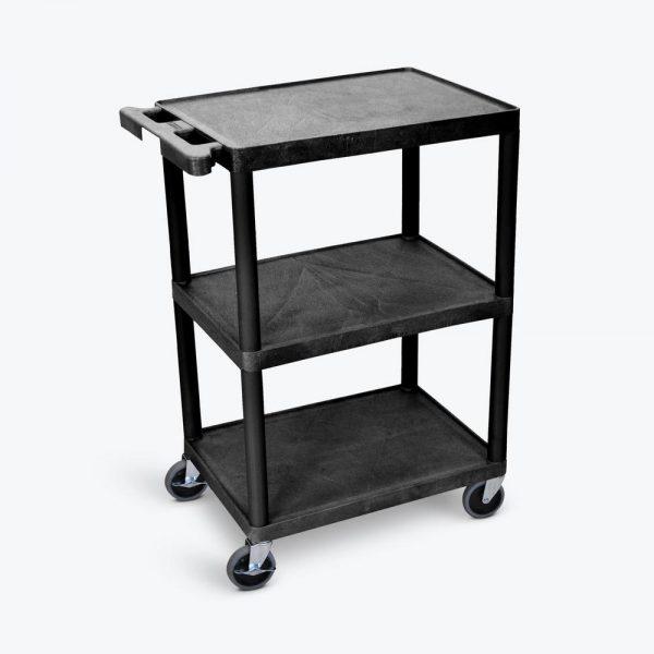 HE34 B 600x600 - Cart, 3 Shelves, Plastic