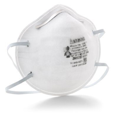 N95 Mask 8200  - 3M N95 Particulate Respirator Face Masks, 95% Particle Filtration, 20/Box