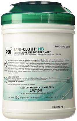 Q08472 Single - Sani-Cloth Germicidal Wipes