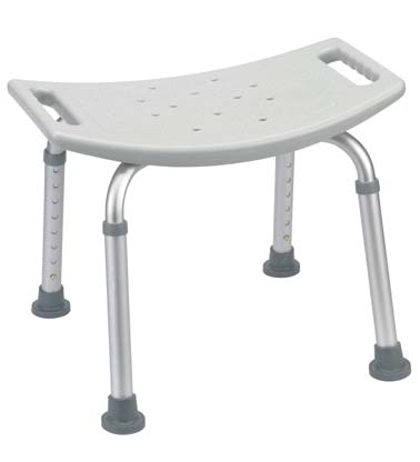 RTL12203KDR - Shower Bench, Deluxe, Aluminum, No Back