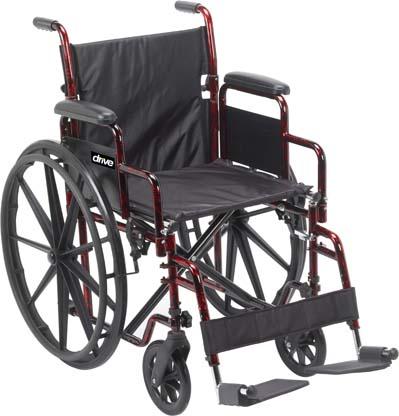 "RTLREB18DDA SF - Wheelchair, Drive Rebel, 18""w Seat"
