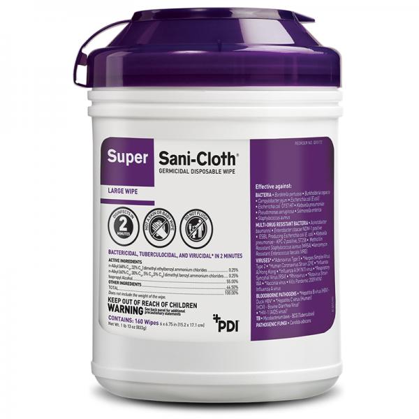 SuperSC LargeCan Q55172 600x600 - Sani-Cloth 'Super' Germicidal Wipes